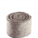 groothandel Woondecoratie: Pot band vilt, breedte 15 cm, 5m, lichtgrijs
